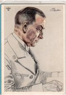 AK Willrich Künstlerkarte - Großadmiral Raeder - Guerra 1939-45
