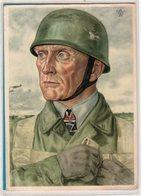 AK Willrich Künstlerkarte - Oberst Bräuer Fallschirmjäger - Stempel Lotte 1940 - Guerra 1939-45