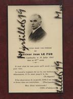 Faire-part De Décès - (1945) Memento Monsieur Jean Le Fur - Brest-Lambézellec - Obituary Notices
