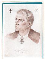 AK Willrich Künstlerkarte - Graf Kageneck Jagdflieger Ritterkreuzträger - Guerra 1939-45