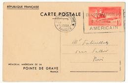 FRANCE - CP 1F Mémorial Américain De La Pointe De Grave - OMEC Inauguration - Cartes Postales Types Et TSC (avant 1995)