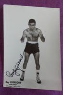 PHOTO BOXE DEDICACEE : GIRAUDON Ray, Poids Moyen. Manager Molina. - Boxing