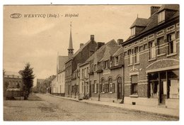 CPA Wervicq Wervik Wervicque Belgique Belgie Flandre Occidentale Hôpital éditeur Roussel Beequart Préaux à Ghlin - Wervik