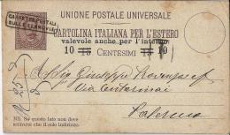 MG139) ITALIA REGNO- 1890 CP PROVVISORIA  Con Timbro Cassette Postali Sulle Ferrovie - 1878-00 Umberto I