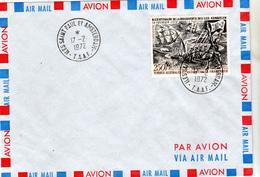 TAAF PA  28 Découverte Des Iles Crozet Sur Lettre Cachet De St Paul Et Amsterdam 17 2 72 - Posta Aerea