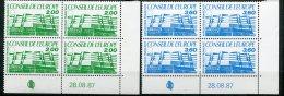 6675  FRANCE  Service N° 96/7** 2f Vert, 3f 60 Bleu Conseil De L'Europe  Du  28.08.87       TTB - Dienstzegels
