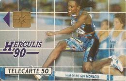 CARTE°-PUBLIC-MONACO-50U-MF 06-GEM A-HERCULIS 90-UTILISE-TBE - Monaco