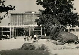73034472 Berlin Alfred Brehm Haus Mit Loewenskulptur Berlin - Sin Clasificación