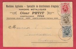 Pipaix - Entreprise Machines Agricoles ... César Petit - Carte Publicitaire - 1931 ( Voir Verso ) - Leuze-en-Hainaut