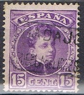 Sello 15 Cts Alfonso XIII, Carteria Oficial II PUEBLA Del MAESTRE (Badajoz), Num 246 º - 1889-1931 Reino: Alfonso XIII