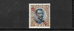 ISLAND 1933 Poste Aérienne   Cat Yt N°  13     N* MLH - Luftpost