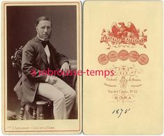CDV En 1875-noblesse-mode-homme élégant-photo Fratelli D'Alessandri-Rome - Oud (voor 1900)