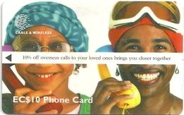 St. Lucia - 10% Off Overseas Calls - 254CSLA - 1998, 30.000ex, Used - Sainte Lucie