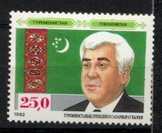 TURKMENISTAN 1992, Yvert 8, Anniversaire Indépendance, Président, 1 Valeur, Neuf / Mint. R146 - Turkménistan