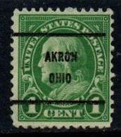 """USA Precancel Vorausentwertung Preo, Locals """"AKRON"""" (OHIO°. - Stati Uniti"""