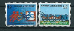 1978 Ivoorkust Complete Set Television Used/gebruikt/oblitere - Côte D'Ivoire (1960-...)