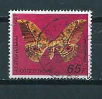 1977 Ivoorkust 65F. Vlinder,butterfly,papillon Used/gebruikt/oblitere - Ivoorkust (1960-...)