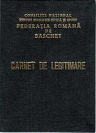 Romania, 1983, Romanian Basketball Federation - Member Card & Brevet - Historische Dokumente