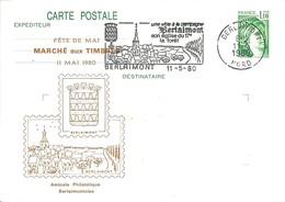 Carte Postale 1,10 Sabine (2058-CP1) Avec Repiquage Amicale Philatélique Berlaimontoise - Berlaimont - Entiers Postaux