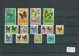 1973 Tanzania Vlinders,butterfly,papillon MNH/Postfris/Neuf Sans Charniere(D-24) - Vlinders