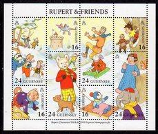 GUERNSEY - 1993 RUPERT BEAR SHEETLET (8V) SG MS606 FINE MNH ** - Fairy Tales, Popular Stories & Legends