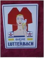 """Plaque En Tôle """"BIERE De LUTTERBACH"""" - Tin Signs (after1960)"""