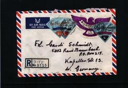 Sierra Leone 1972 Interesting Airmail Registered Letter - Sierra Leone (1961-...)