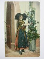 Elsässerin, Femme En Costume, Folklore - Costumi