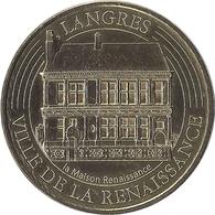 2018 MDP214 - LANGRES 3 - Ville De La Renaissance / MONNAIE DE PARIS - 2018