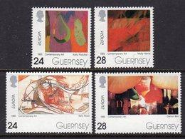 GUERNSEY - 1993 EUROPA CONTEMPORARY ART SET (4V) SG 607-610 FINE MNH ** - Europa-CEPT