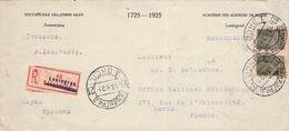 USSR - FRAGMENT OF ENVELOPE RECO LENINGRAD -> PARIS 1925 - Storia Postale