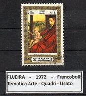 """FUJEIRA - 1972 - Francobollo Tematica """" Arte - Quadri """" Usato -  (FDC9397) - Fujeira"""