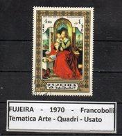 """FUJEIRA - 1970 - Francobollo Tematica """" Arte - Quadri """" Usato -  (FDC9400) - Fujeira"""