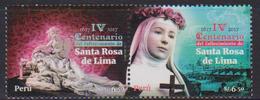PERU, 2017, MNH, CHRISTIANITY, SANTA ROSA DE LIMA, 2v - Christianity