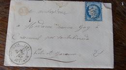 27.04.18_  LAC  De  Monclar-d'  Agenais (45), OR De Montastruc Sur N° 60 A Voir!!  Rare!! - 1849-1876: Période Classique