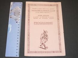 UNIVERSITE DE LILLE-SALLE DES FETE 21/4/40 PROGRAMME FEPTE POUR LES MOBILISE ASSURANCES SOCIALES - 1939-45