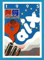 Frankreich  1995  Mi.Nr. 3085 , EUROPA CEPT - Frieden Und Freiheit - Maximum Card - Strasbourg 29 Avril 1995 - Europa-CEPT