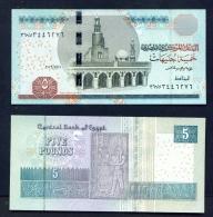 EGYPT  -  2017  5 Pounds  UNC Banknote - Egypt