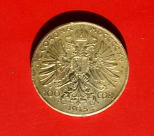 AUSTRIA  IMITAZIONE 100 CORONE ORO FRANCESCO GIUSEPPE DEL 1915 - Austria