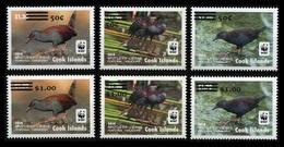 Cook Islands 2017 Mih. 2120/25 Fauna. WWF. Birds. Spotless Crake (overprint) MNH ** - Islas Cook