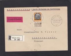 EINGESCHRIEBENE  BRIEF,DURCH EILBOTEN  VON ESCH-ALZIG NACH LIMBURG/LAHN. - 1940-1944 Occupation Allemande