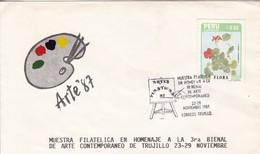 MUESTRA FILATELICA HOMENAJE 3° BIENAL ARTE CONTEMPORANEO TRUJILLO. PERU.-BLEUP - Peru