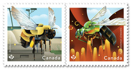 CANADA 2018  BEES  Abeillle, Pair From Booklet  NEW - Carnets