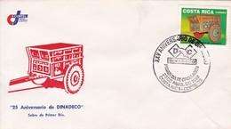 FDC. 25 ANIVERSARIO DE DINADECO. COSTA RICA.-BLEUP - Costa Rica