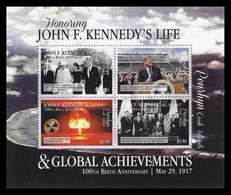 Penrhyn 2017 Mih. 815/18 (Bl.123) John Kennedi And Global Achievements. Space. Nuclear Test Ban MNH ** - Penrhyn