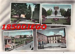 SALUTI DA FIORENZUOLA D' ARDA MULTIVEDUTE F/GRANDE VIAGGIATA 1960 ANIMAZIONE - Piacenza