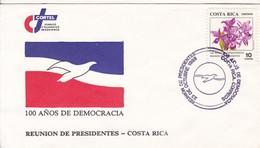 FDC. 100 AÑOS DE DEMOCRACIA. REUNION DE PRESIDENTES. COSTA RICA.-BLEUP - Costa Rica