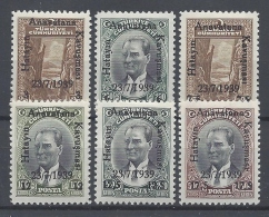 TUKEY 1939  RATTACHEMENT DU HAYAT Nº 912/917 - Unused Stamps