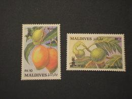 MALDIVES - 1988 FRUTTI 2 VALORI - NUOVI(++) - Maldive (1965-...)