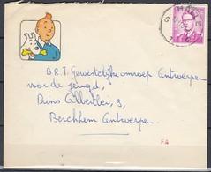 Belgium Tintin Kuifje Tim Strip BD Comic Cartoon Cover With OCB Nr 1067 Marchand Halle - Cómics